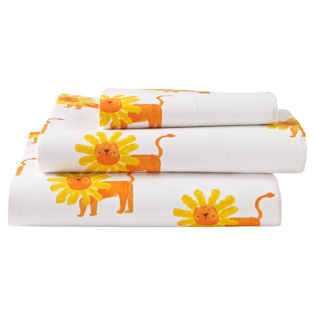 Twin Wild Excursion Lion Sheet Set