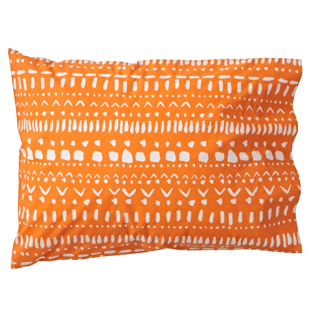 Organic Tribal Excursion Orange Pillowcase