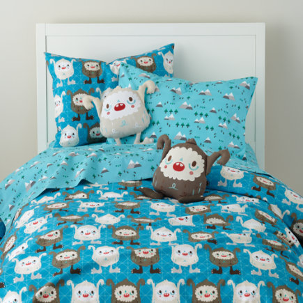 Boys Bedding: Yeti Themed Bedding Set - Twin Yeti Duvet Cover