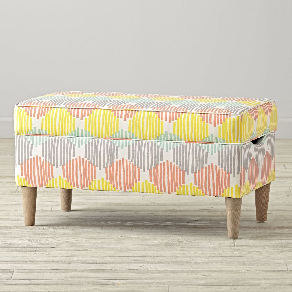Upholstered Storage Bench Stroke Cell Pastel The Land