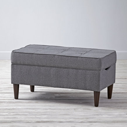 Flair Smoke Tufted Upholstered Storage Bench