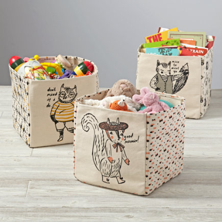 Forest Etiquette Storage Bin - Forest Etiquette Squirrel Cube Bin