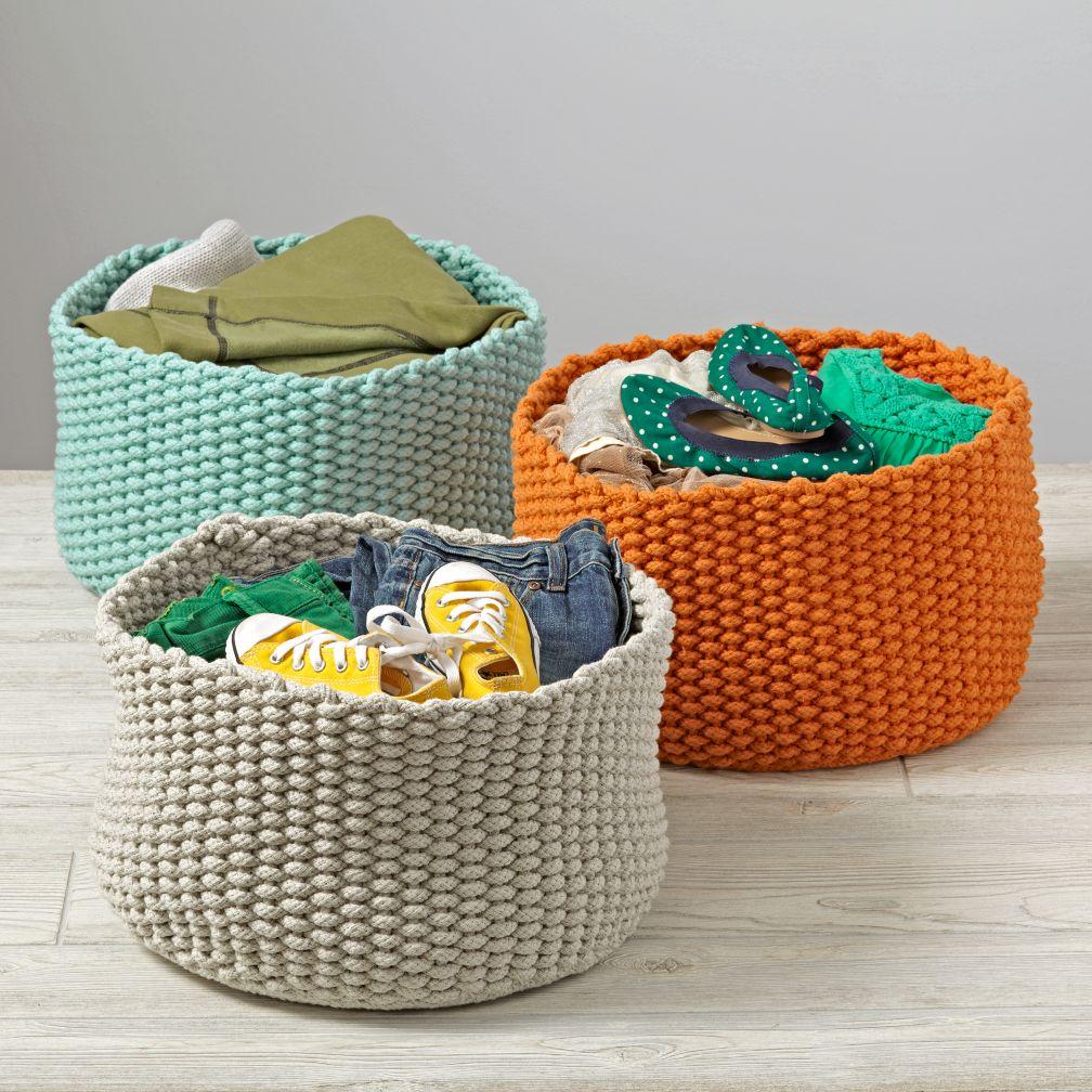 Kneatly Knit Medium Rope Bins
