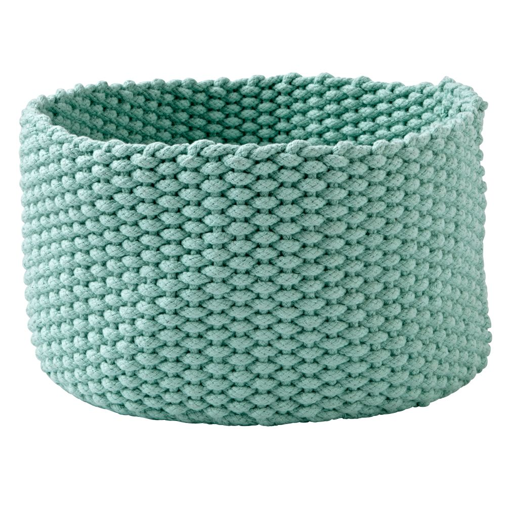 Kneatly Knit Medium Mint Rope Bin