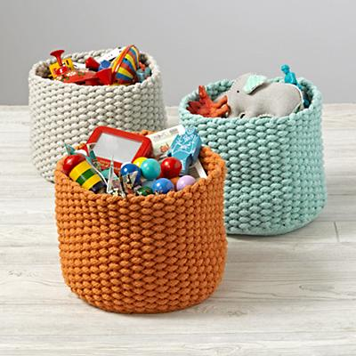 Kneatly Knit Small Rope Bins