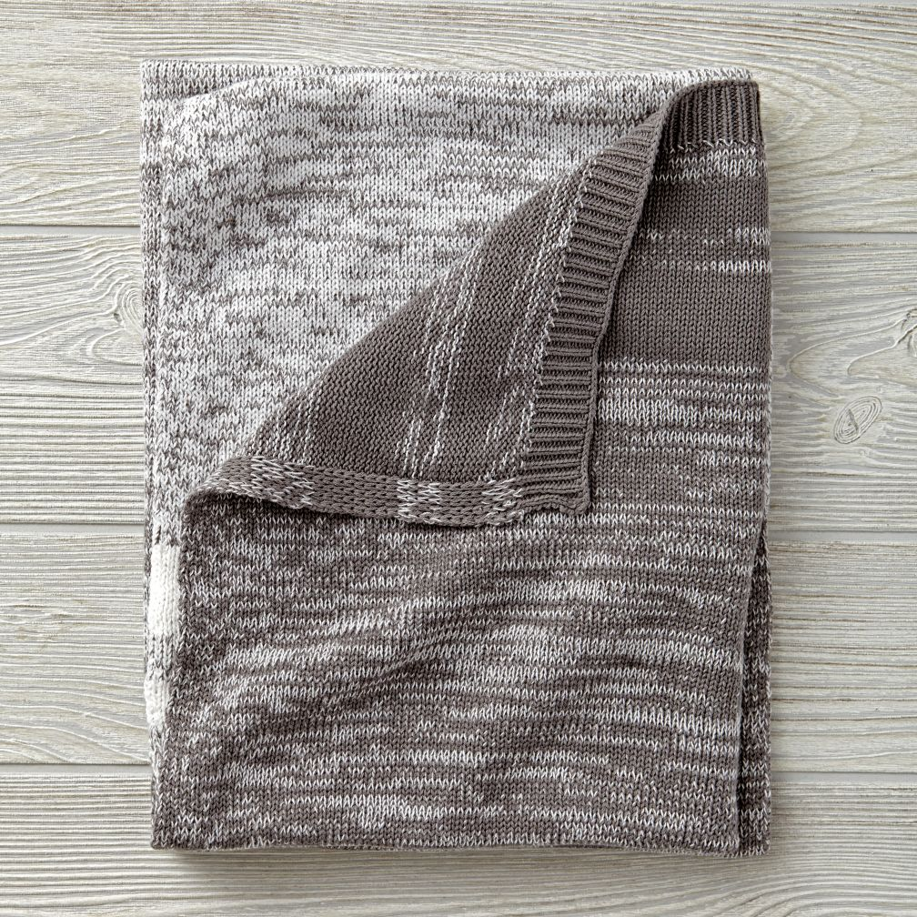 Blended Knit Grey Baby Blanket