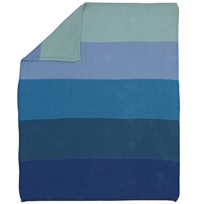 Knit Ombre Blanket (Blue)