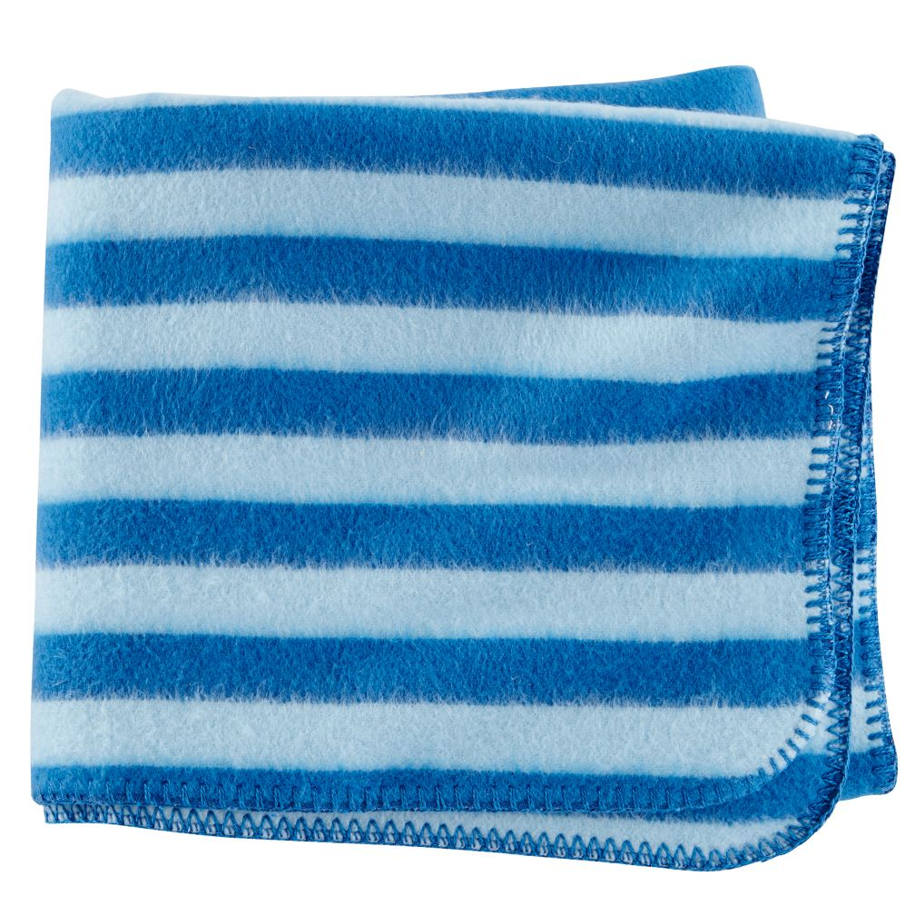 Pitter Pattern Baby Blanket (Blue)