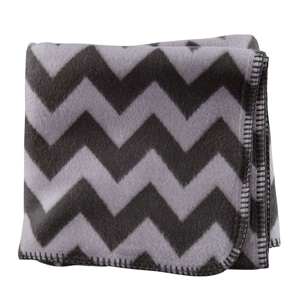 Pitter Pattern Baby Blanket (Grey)