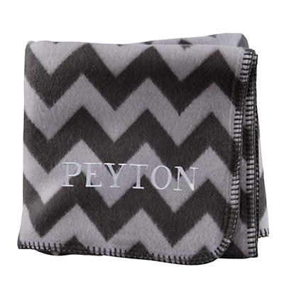 Personalized Pitter Pattern Blanket (Grey)