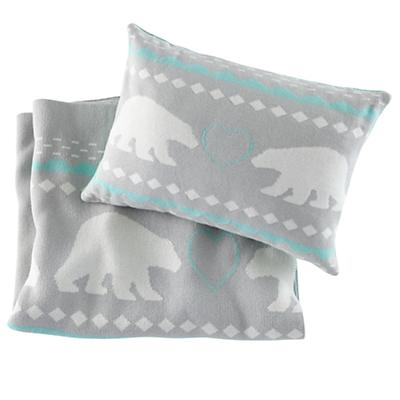 Polar Blanket and Pillow Gift Set