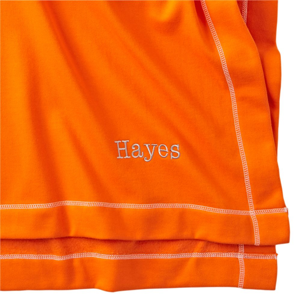 Personalized Orange Standard Issue Sweatshirt Blanket
