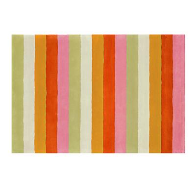 5 x 8' Bold Stripe Rug (Pink-Orange)