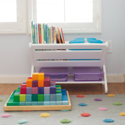 Pyramid of Rainbow Wooden Blocks - Large The Greater Pyramid Wooden Block Set
