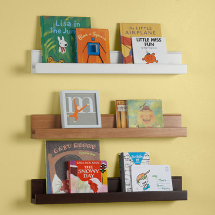 Kids Wall Racks Kids Wooden Book Wall Ledge White Book