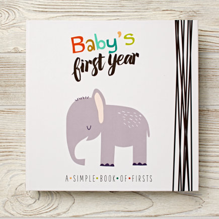 Babys First Year Book (Blue) - Babys First Year Blue