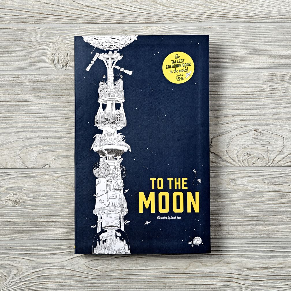 To the Moon: The Tallest Coloring Book in the World