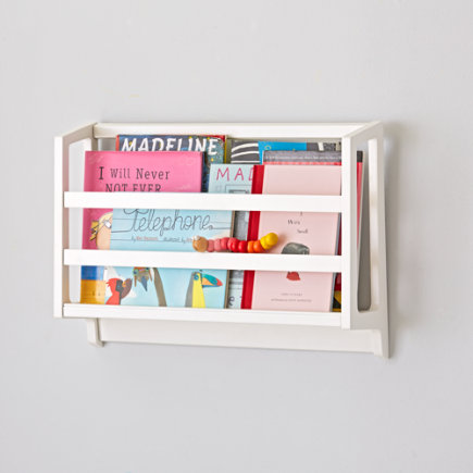 - White On The Wall Book Bin