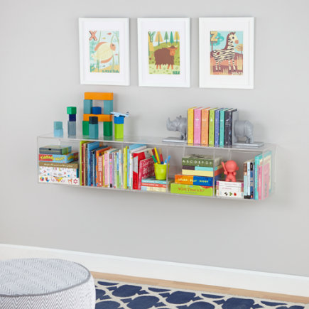Now You See It Clear Acrylic Bookcase - Acrylic Now You See It Shelf Bookcase