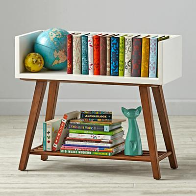 Alto Bookcase (White/Walnut)
