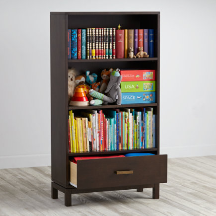 Cargo Bookcase with Drawer (Java) - Java Cargo Bookcase