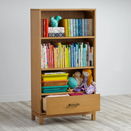 Cargo Bookcase with Drawer (Natural) - Natural Cargo Bookcase