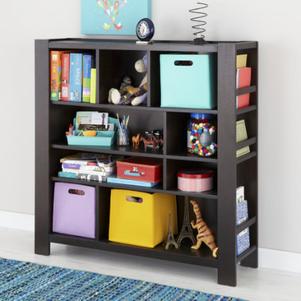 Kids Brown Compartment Cubby Bookcase - Java Compartment Bookcase