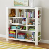 Compartment Department Bookcase (White)