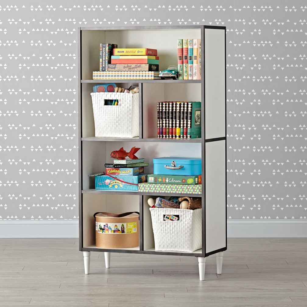 Fulton Street Tall White Bookcase