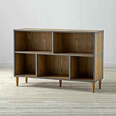 Fulton Street Brown Wide Bookcase