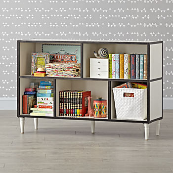 Fulton Street Wide White Bookcase
