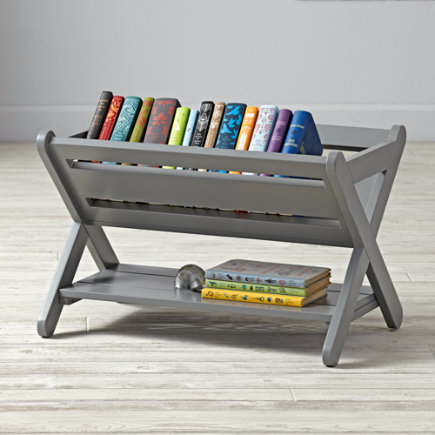 Good Read Trough Book Caddy (Grey) - Grey Good Read Book Caddy