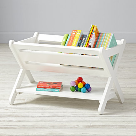 Good Read Trough Book Caddy (White) - White Good Read Book Caddy