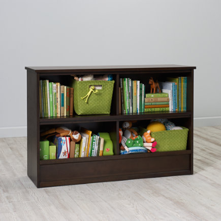 32 Horizon Bookcase With Bins (Java) - 32 Java Horizon Bookcase