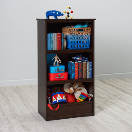 48 Horizon Bookcase With Bins (Java) - 48 Java Horizon Bookcase