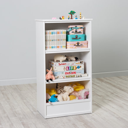 48 Horizon Bookcase With Bins (White) - 48  White Horizon Bookcase