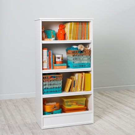 60 Horizon Bookcase With Bins (White) - 60 White Horizon Bookcase