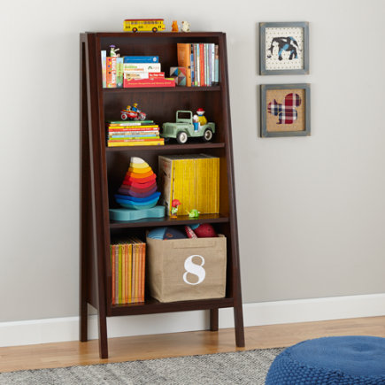 Graduated Tall Bookcase (Coffee) - Graduated Tall Bookcase w/Coffee Shelves