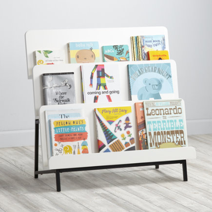 New Issue Modern Bookcase (White/Black Base) - White/Black Base New Issue Bookcase