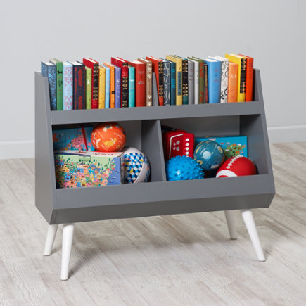 Next Chapter Modern Bookcase (Grey/White) - Grey/White Next Chapter Bookcase