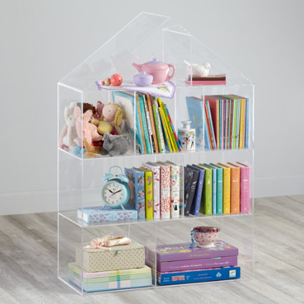 Acrylic Bookcase - House Shaped - Acrylic Publishers Clear House Bookcase