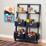 Little Sloane Leaning Bookcase (Midnight Blue)
