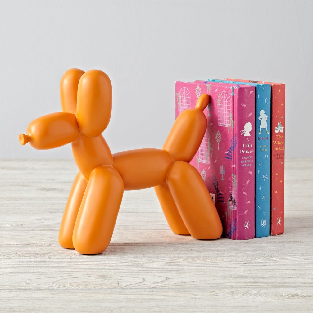 Balloon Animal Orange Dog Bookend