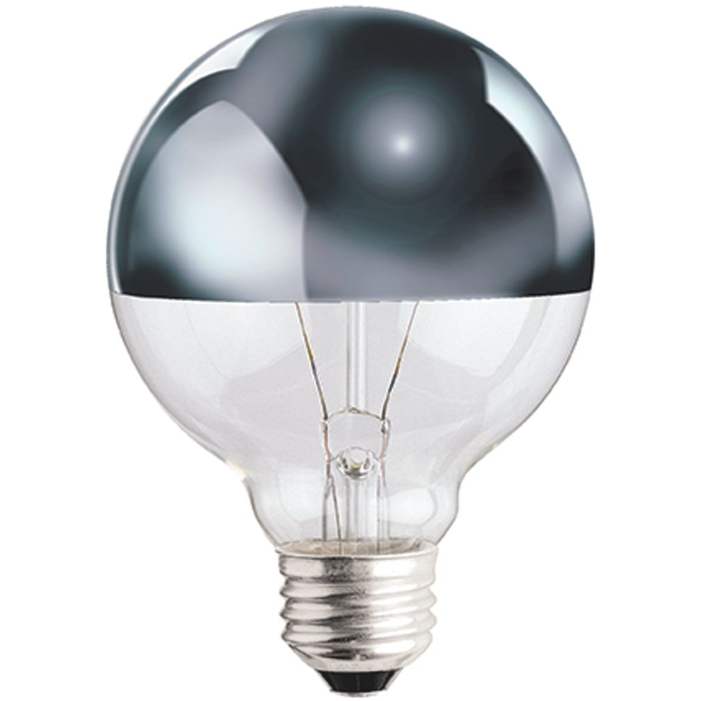 g25 chrome tipped 40w light bulb the land of nod. Black Bedroom Furniture Sets. Home Design Ideas