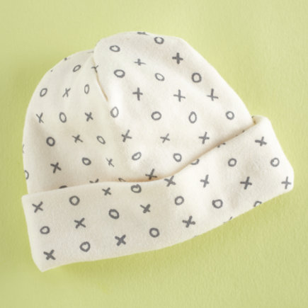 Baby Hats: Baby Xs and Os Organic Knit Hats - XO Hat