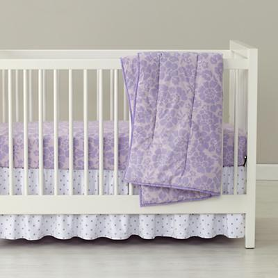 Dream Girl Crib Fitted Sheet (Lavender Floral)