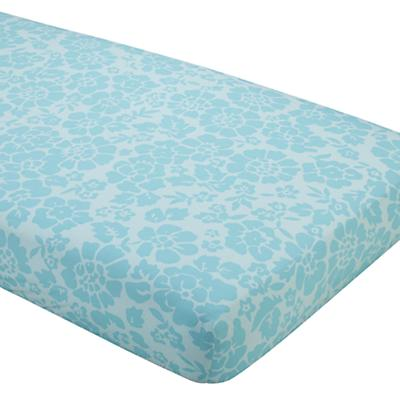 Dream Girl Crib Fitted Sheet (Aqua Floral)