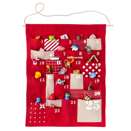 red Shapes and Sizes Countdown Advent Calendar