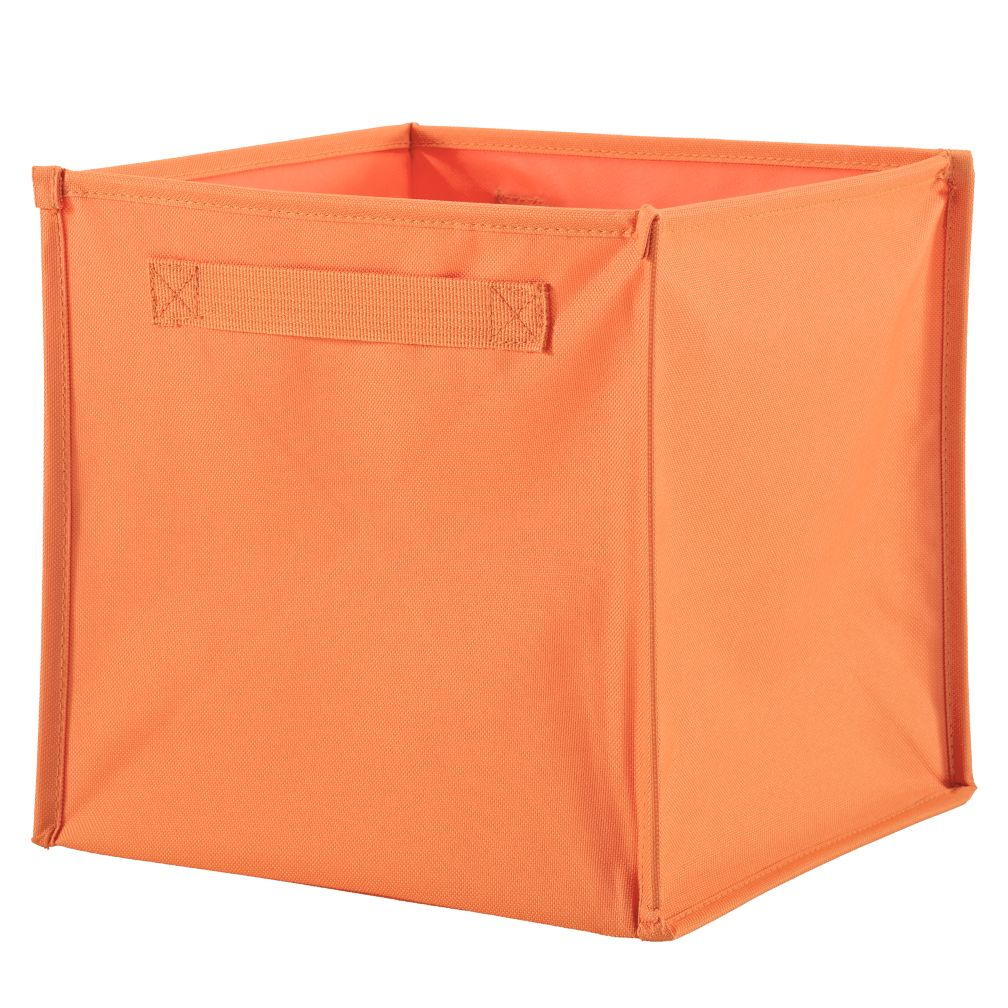 I Think I Canvas Cube Bin (Orange)