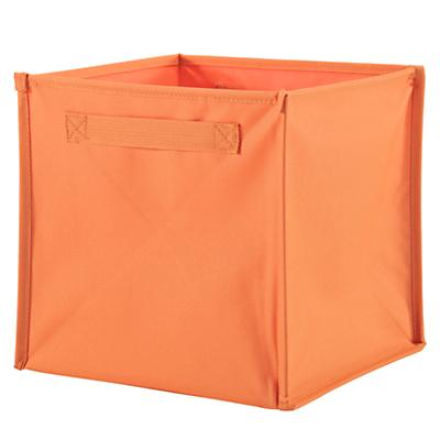I Think I Canvas Orange Cube Bin